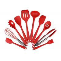 Buy cheap Eco Friendly 10 Piece Silicone Utensil Set / Heat Resistant Silicone Cooking Utensils from wholesalers