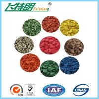 Buy cheap Color Synthetic EPDM Rubber Granules Flooring Material / Waterproof Rubber Surfacing Mat Material from wholesalers