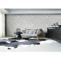 Buy cheap 3D Grey Brick Effect Wall Covering Smoke Proof For Sitting Room , Modern Style product