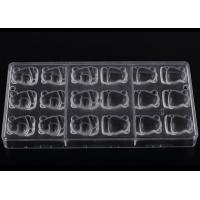 Buy cheap Transparent Food Safe PP Plastic / Silicone Chocolate Molds 27.5*13.5*2.5cm from Wholesalers