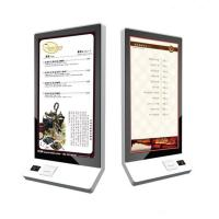 Buy cheap 32 Inch Wall Mounted Touch Screen Kiosk Food Self Service Kiosk Bulit In POS System from wholesalers