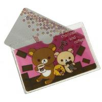 Buy cheap Cartoon Printing Plastic Credit Card Holder Transparent Frosted Travel Card Wallet from wholesalers