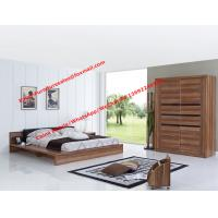 Buy cheap Luxury Aparment Bedroom Furniture by leather upholstered and MDF Plate bed with In wall Sliding door Armoires product