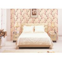 Buy cheap 3D Effect Peach Blossom Pattern Chinese Style  Wallpaper For Room Decoration , Eco-Friendly from wholesalers
