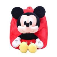 Buy cheap 12 Inch Red Mickey Mouse Backpack For Toddler With Soft Plush Fabric Size from wholesalers