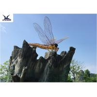 Buy cheap Outdoor Realistic Lifesize Animatronic Animals Insect Dragonfly Park Decoration Model from wholesalers