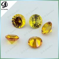 Buy cheap Round Synthetic Corundum Yellow Sapphire Gems Stone from wholesalers