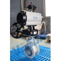 Buy cheap Pneumatic actuated Butterfly Valve / Pneumatic On Off Butterfly Valve For Dry Bulk Or Solid Or Liquid Slurry from wholesalers