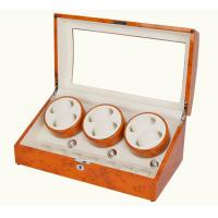 Buy cheap 6+7  wooden watch winder show boxes for 13pc watch storage great item for shop display yellow color from wholesalers
