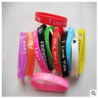 Buy cheap New customed print logo promotional silicon bracelet sprots club outdoor advertising gift product