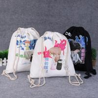 Buy cheap Drawstring Shoe Pouch Reusable Cotton Shopping Bags Offset Printing from wholesalers