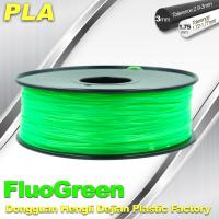Buy cheap 1.75 / 3mm Fluorescent Filament   PLA Fluo filament  bright color filament from wholesalers