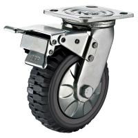 Buy cheap Trolley 8 Inch Heavy Duty Caster Wheels With Brake Swivel Plate Non Marking from wholesalers