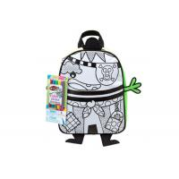 Kids Fabric DIY Painting Pirate Backpack , Washable DIY Drawing School Bag