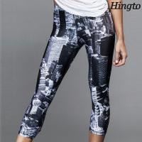 Buy cheap Sublimated Sports Fitness Girls Wearing Yoga Pants With OEM Design from wholesalers