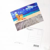 Buy cheap PET Seascape Pantone Color 3D Lenticular Printing Postcards For Greeting Light Weight from wholesalers