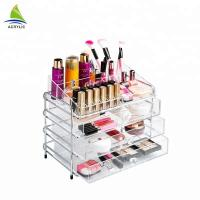 Buy cheap Custom 3 Drawer Clear Acrylic Makeup Organizer from wholesalers