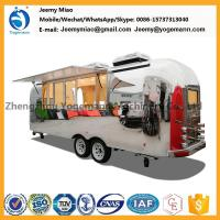 Buy cheap Hot Sale Stainless Steel Food Trailer Mobile Catering carts food truck from wholesalers