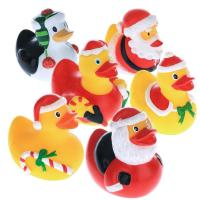 Buy cheap 5.5cm Height Rubber Duck Christmas Decorations , Squeeze Floating Plastic Ducks  from wholesalers