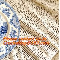 Buy cheap Cream-coloured Hook needle crochet bedding blanket sofa piano cover dining table cloth rus from wholesalers
