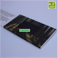 Buy cheap Amazing 2.4, 3.5, 4.3, 7 inch video brochure, LCD video advertising book, LCD greeting card with best price from wholesalers