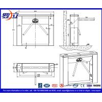 304 Stainless Steel Tripod Turnstile Gate with Biometric Recognition System