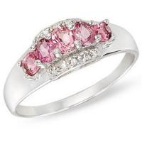 Buy cheap Gold Ring14K White Gold Ring Pink Tourmaline and Diamond from wholesalers