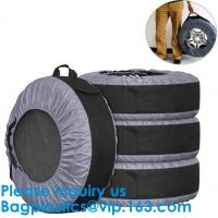 Buy cheap Anti UV Automotive 600D Wheel And Tyre Bags Automotive Spare Tire Tyre Wheel Cover With Carrying Handles Tote Car Wheel from wholesalers