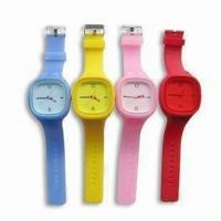 Buy cheap Jelly Watches, Made of Silicone, Flexible and Stylish, Available in Various Colors product