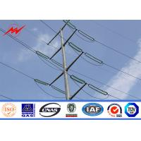 Buy cheap 69kv Electric Powerful Steel Electrical Utility Poles With Power Accessories from wholesalers