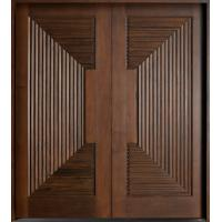 Buy cheap Double interior swing solid wooden door, modern wood door price from wholesalers