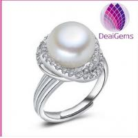 Buy cheap 925 sterling silver freshwater pearl ring 11-12mm from wholesalers