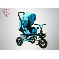 Buy cheap Comfortable Pedal Baby Push Along Bike , Three Wheel Bike Big Storage Basket from wholesalers