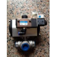 Buy cheap Penumatic Actuator1 Inch Stainless Steel 3 Way Ball Valve from wholesalers