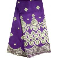 Buy cheap Fashion purple color African lace fabric silk george lace from wholesalers