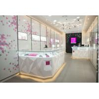 Buy cheap Attractive Pule White Jewellery Showcases Display With Customize Logo product