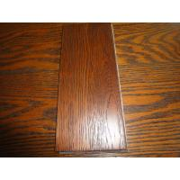 Buy cheap solid oak flooring ,Brushed Gunstock color Stained from wholesalers