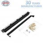 Buy cheap Black Cat5e UTP Patch Panel , 110 IDC Type Rj45 Jack Panel Rack Mountable from wholesalers