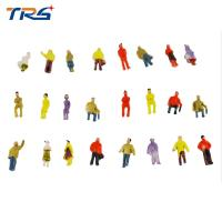 Buy cheap 1:100 scale ABS plastic model painted figures model people 2cm for model building materias from wholesalers