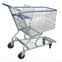 Buy cheap 4 Wheels Metal Shopping Trolley Movable Unfolding Hand Wire Grocery Cart from wholesalers