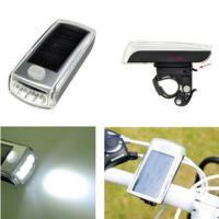Buy cheap 4 LED Solar Bike Bicycle Headlight and USB 2.0 Rechargeable Front Head Light from wholesalers