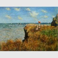 Buy cheap Claude Monet Oil Reproduction, Cliff Walk At Pourville Oil on Canvas 50 X 70 Cm from wholesalers