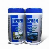 Buy cheap Auto Care Wipe with Spunlance Non-wovens, Soft and Thick, without Alcohol product
