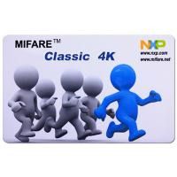 Buy cheap CR80 ISO14443A 13.56MHz RFID Classic 4K RFID Smart Card for access control from wholesalers