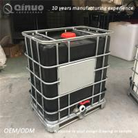 Buy cheap 1000L Water or liquid storage  black IBC TANK from wholesalers