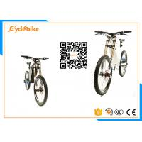 Buy cheap Long Range Powerful Electric Bike Full Suspension / E Bike Mountainbike 25-40km/H Speed from wholesalers