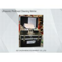 Buy cheap Flush Liquid Ultrasonic Printhead Cleaning Machine , Black Heated Ultrasonic Cleaner from wholesalers
