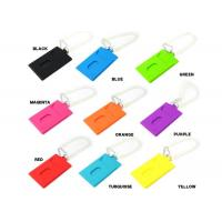 Buy cheap Colorful Silicone Key Chain For Travel Luggage Tag Bag Label , Multifunction from wholesalers