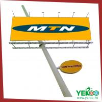 Buy cheap Outdoor Road Sign Unipole Advertising Column Signage Billboard from wholesalers