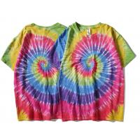 Buy cheap Customized high quality cotton short sleeve o neck street hand dyed Rainbow t shirt from wholesalers